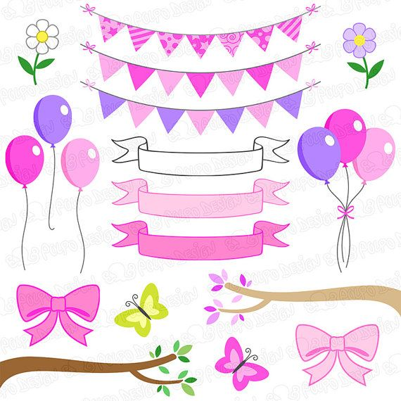Owl Clipart And Digital Paper Baby Girl Clip Art Shower Pink Owls Bundle Ideal For Invites Party Decor