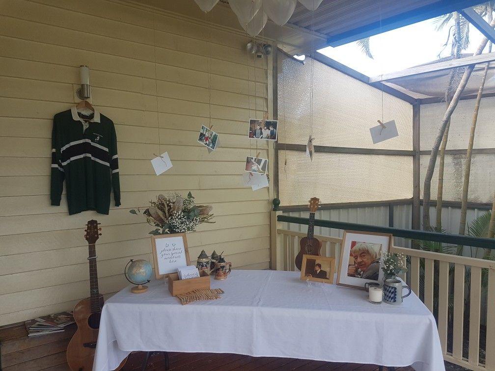 Memorial funeral table music loft bed home decor decor