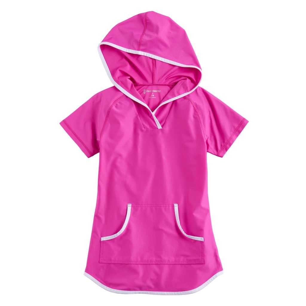 cac9e1940be95 Girls 4-16 Free Country Hooded Swimsuit Cover-Up
