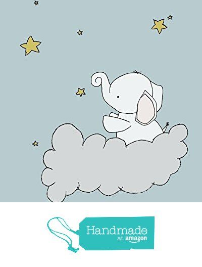 Elephant Nursery Art - Elephant Star Cloud - Nursery Art Print - Blue and Gold from Sweet Melody Designs https://www.amazon.com/dp/B017TAKAG2/ref=hnd_sw_r_pi_dp_UeZczb2K4BNS4 #handmadeatamazon
