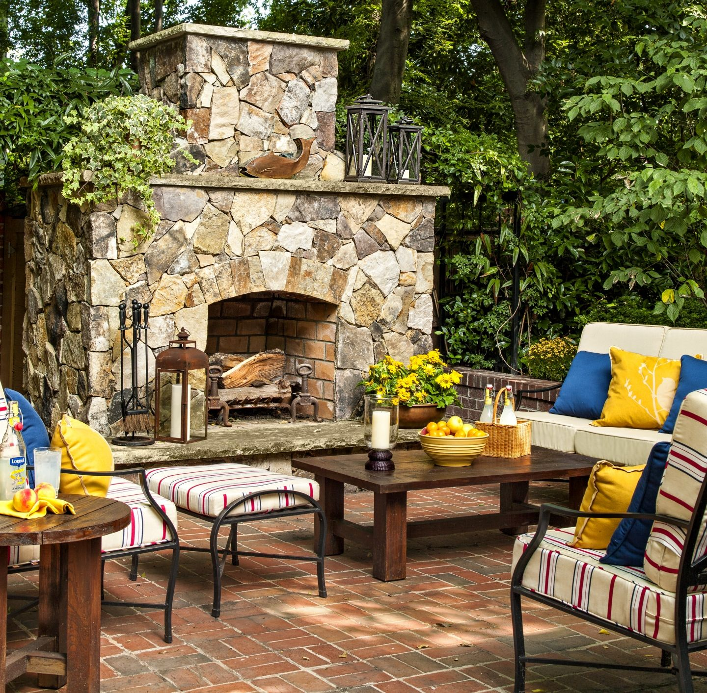 A House With a Comeback Story Stone fireplaces Patios and