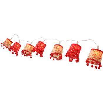 Vintage Retro Pom Pom Light Shade Fairy Lights String: Amazon.co.uk: Kitchen & Home