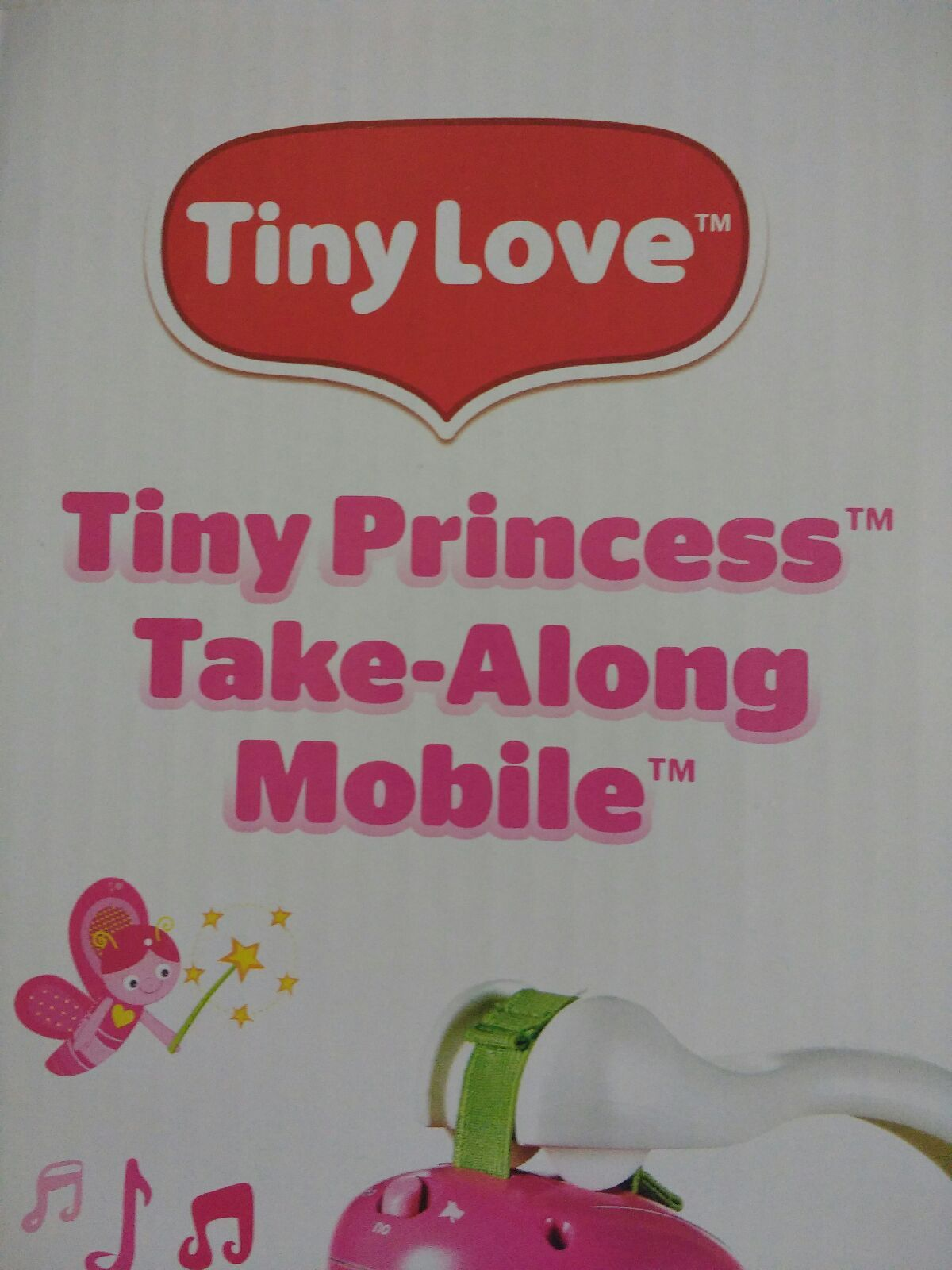 Tiny Love Take Along Mobile, Tiny Princess Easily portable mobile can be folded and taken anywhere you go. Can attach to most pack n plays.  infant carriers.  and strollers. Beautiful pink with adorable characters and soothing music will soothe baby where ever you are. Easily portable mobile can be folded and taken anywhere you go. Can attach to most pack n plays, infant carriers, and strollers. Beautiful pink with adorable characters and soothing music will soothe baby wherever you are…