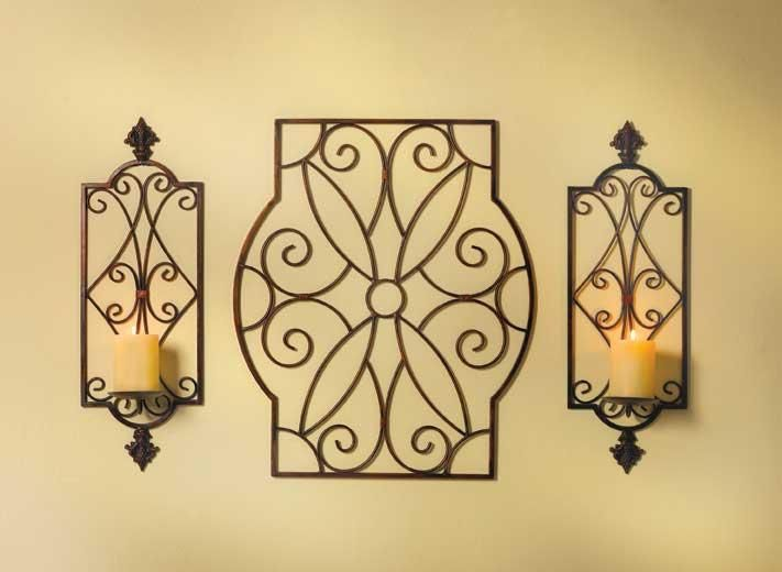 bronze candle wall sconce: for the hallway?