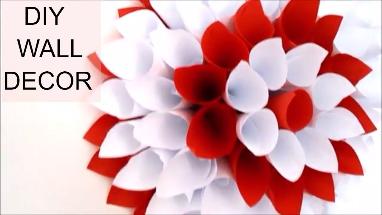 In This Video You Will Learn How To Make A Nice And Easy DIY Room Decor:  How To Make A Paper Flower For Wall Decoration. Itu0027s A Very Easy Paper Craft  And ...