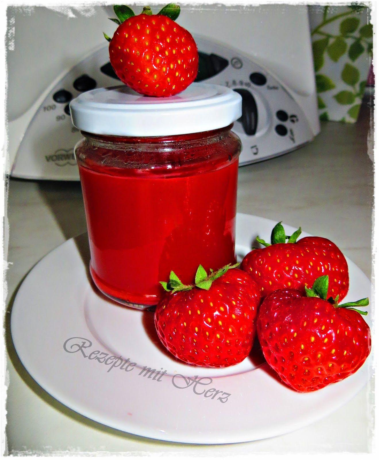 rezepte mit herz erdbeer samt marmelade thermomix marmelade erdbeeren marmelade und. Black Bedroom Furniture Sets. Home Design Ideas