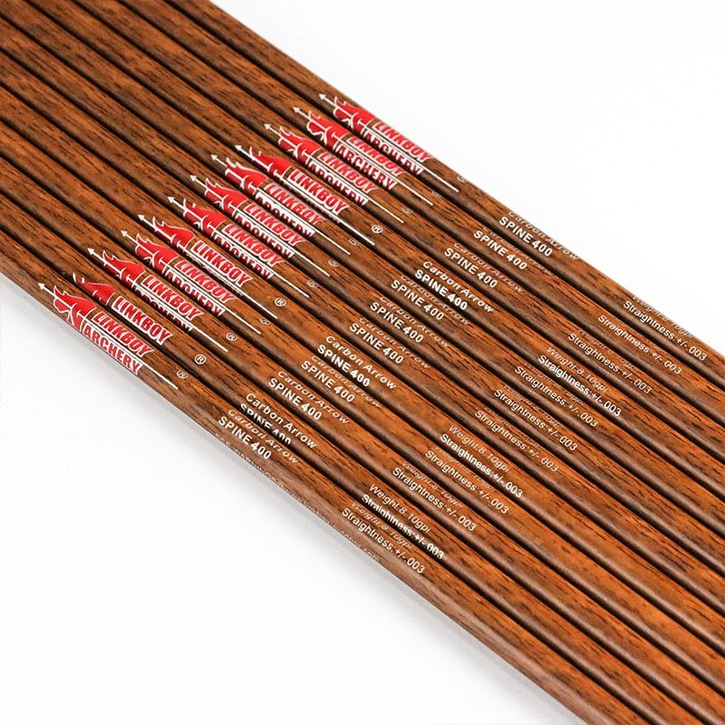 12PC Archery Carbon Arrow Shafts ID6.2mm 5/'/' Turkey Feather Bow Hunting Shooting
