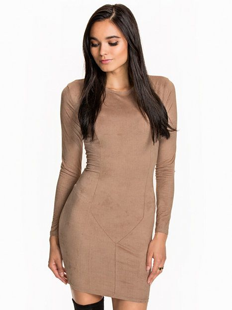 Dresses Women Beige Party Dress Nly Clothing Suede Trend k8wOn0P