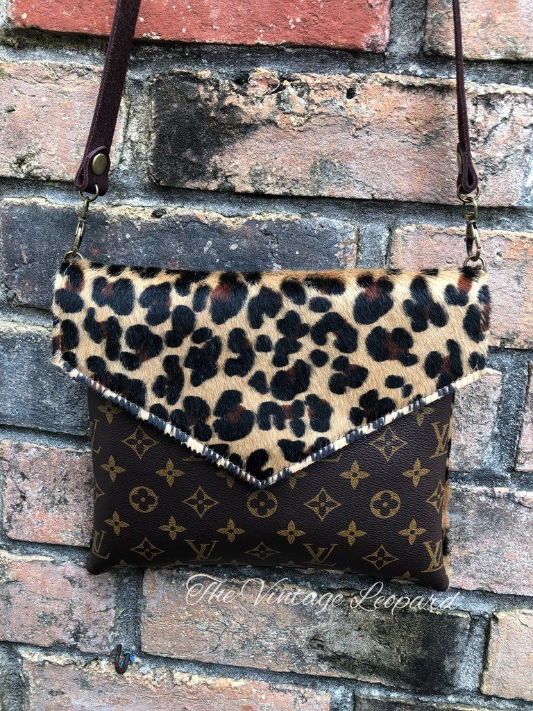 aec4a1720 Alexa Upcycled LV & Leather Leopard Crossbody in 2019 | Fashion ...