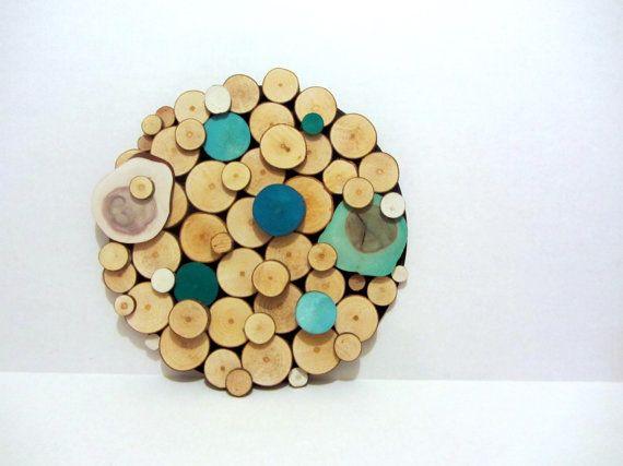 Tree slice Art Rustic Tree slices sculpture by Treelovergirl, $40.00