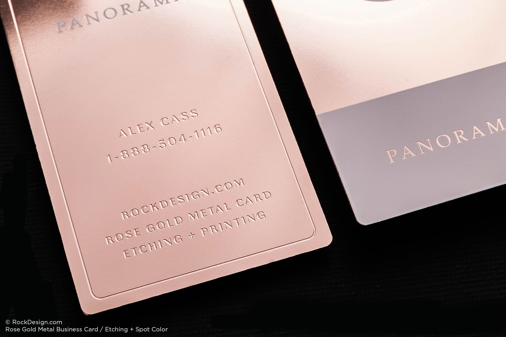 Rose Gold Metal Business Cards | RockDesign Luxury Business Card ...