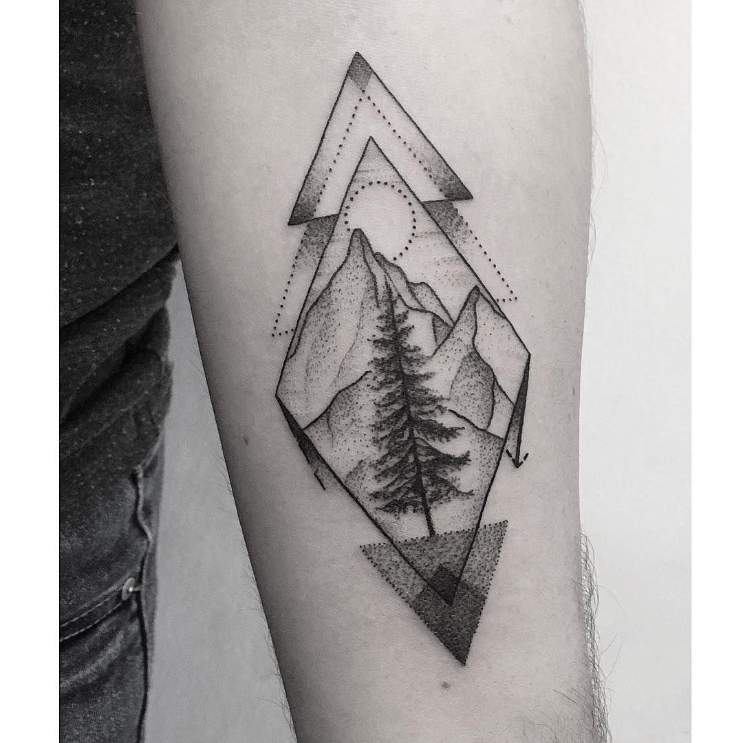 Geometric Landscape Piecce Geometric Tattoo Geometric Tattoo Landscape Landscape Tattoo
