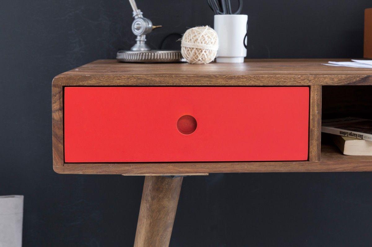 Wohnling Schreibtisch Repa Mit 2 Schubladen Rot Wl1 956 Aus