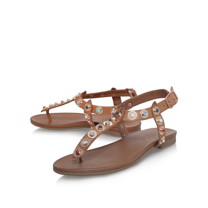 cheapest price cheap price Black 'Kankan' flat sandals sale clearance amazon for sale looking for online big sale yFyn00BJZv