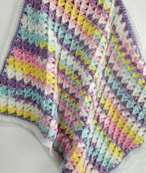 Pastel Peaks Crochet Baby Blanket | Pinterest | Cobija y Tejido