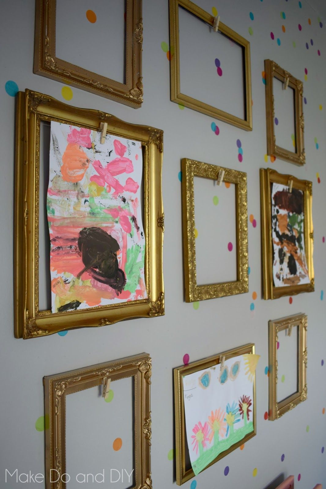 A Gallery Wall With A Difference Make Do And Diy Art Display Kids