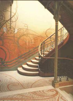 art nouveau jugendstil interieur victor horta hotel tassel in brussel een totaalstijl in gebouwen interieurs sieraden porselein glas meubelen