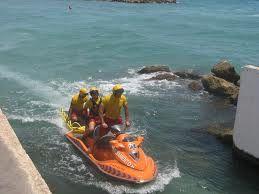 Moto acuática de rescate