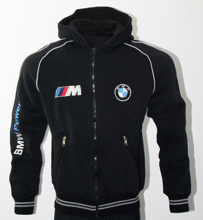 BMW M Power fleece polar Jacket embroidered logos Coat