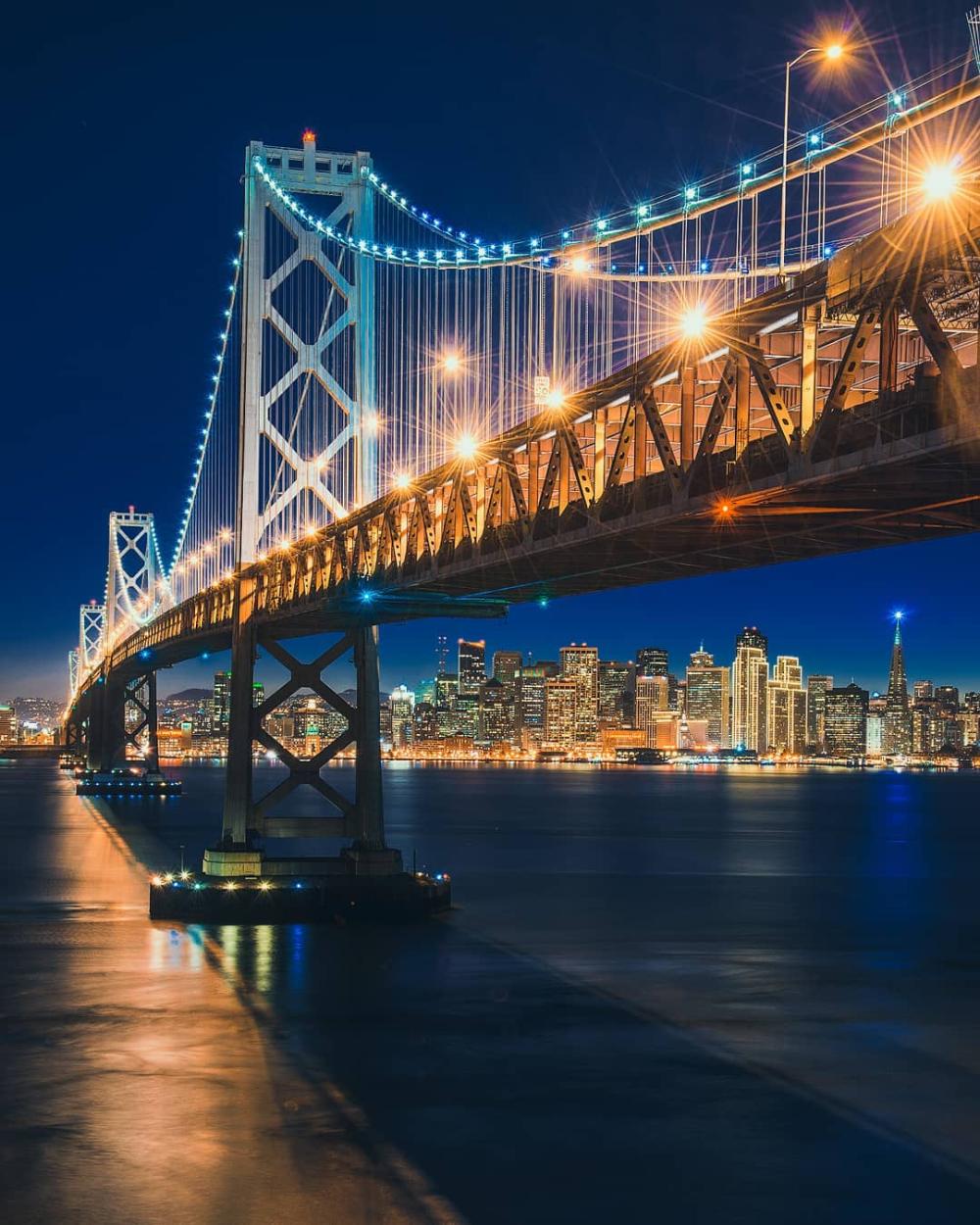 Bay Bridge San Francisco California By Piriya Wongkongkathep Pete On Instagram Bay Bridge San Francisco San Francisco California Bay Bridge