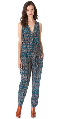 15e2cd3f146f Thakoon Belted Sleeveless Jumpsuit Silk Crepe