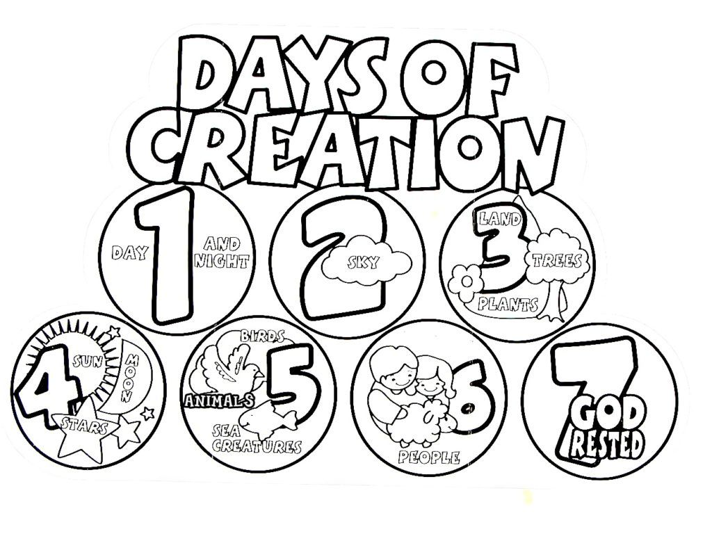 Emerging Days Of Creation Coloring Pages 28 Images Template
