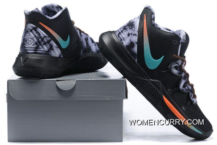 official photos d68e5 70bd1 New Release Nike Kyrie 5 Black Blue-Orange-Grey