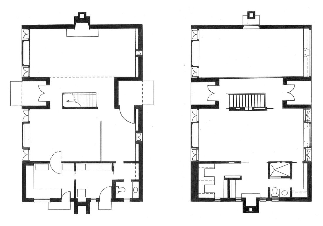 Esherick house plan 1961 philadelphia pennsylvania louis kahn