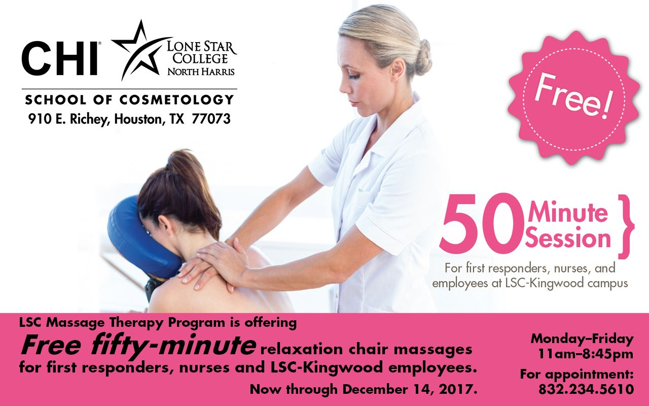 Free 50 Minute Relaxation Chair Massages Chi School Of