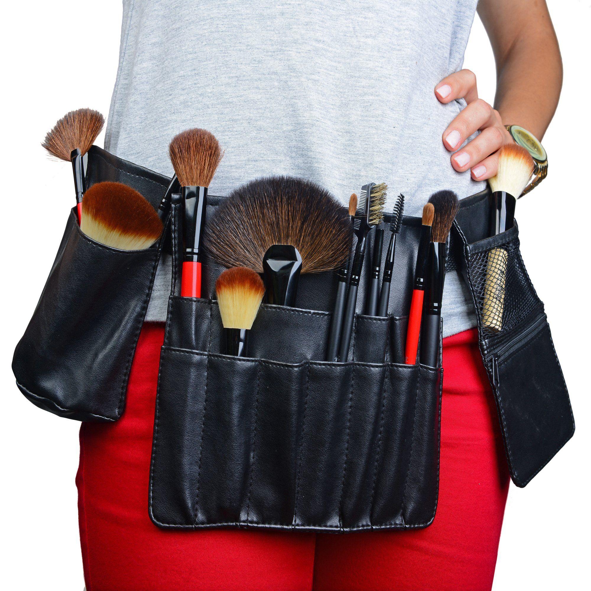 Amazon Com Shany Cosmetics Professional Vinyl Makeup Apron With Makeup Artist Brush Belt Light Weight 8 Ou Makeup Brushes Makeup Tools Products Makeup Tools