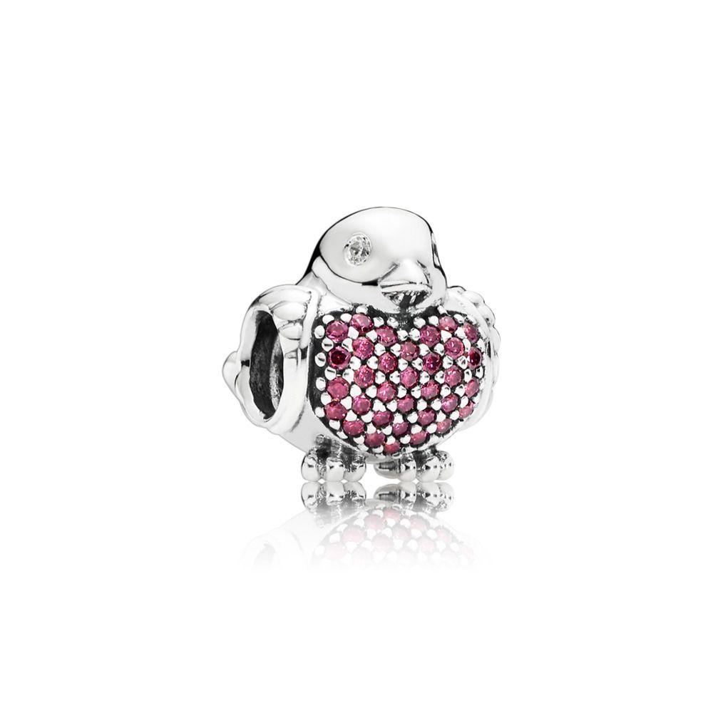 Authentique Charm argent S925 Perles Charms CZ Pave Blossom Perles Fleur
