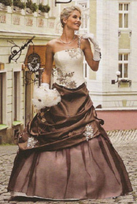 Robe de mariée chocolat et ivoire | Robe