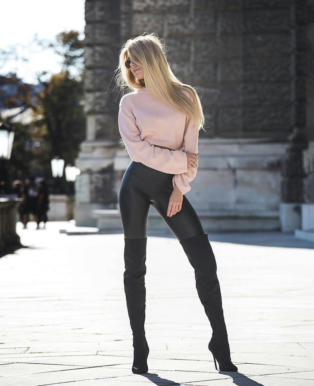 Hot girls in leather pants