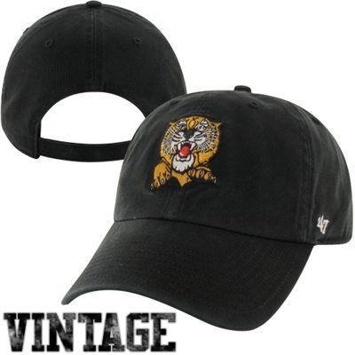 size 40 52fa5 6b56e  47 Brand Missouri Tigers College Vault Cleanup Adjustable Hat - Black.