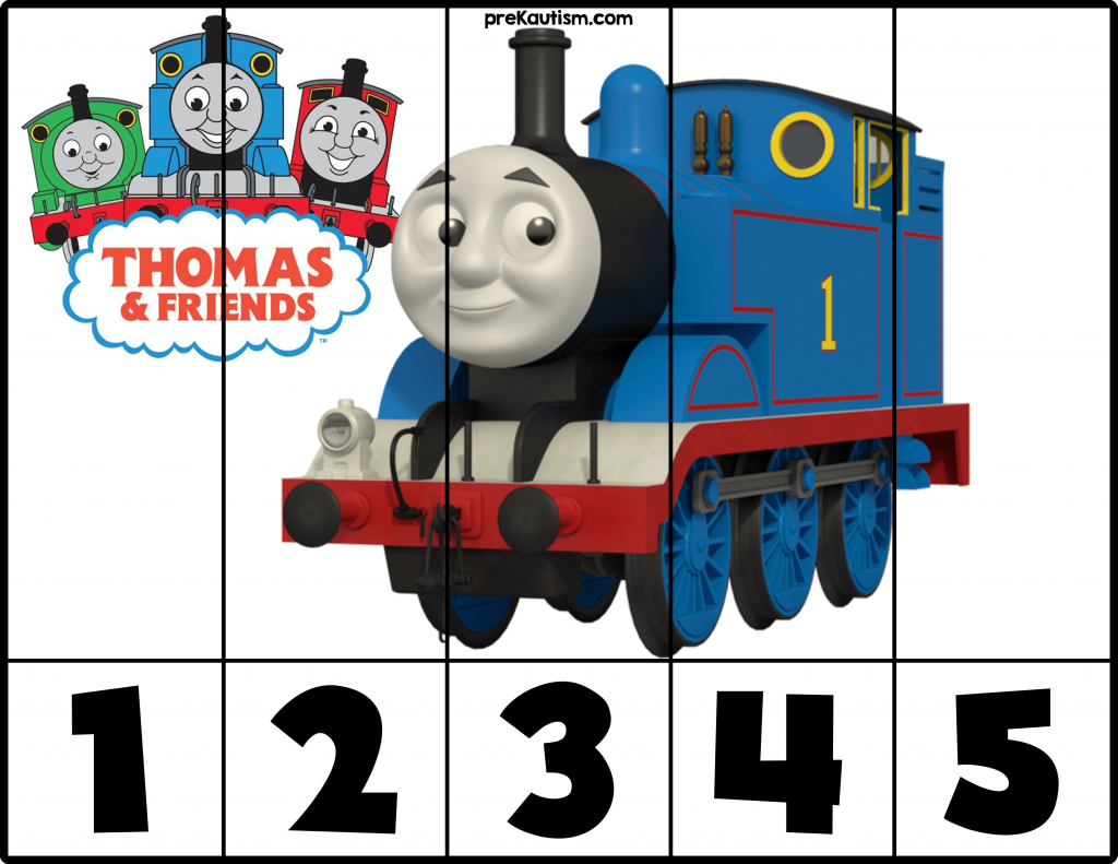 Workbooks thomas the tank engine printable worksheets : FREE! Printable Thomas & Friends Number Puzzles - Autism ...