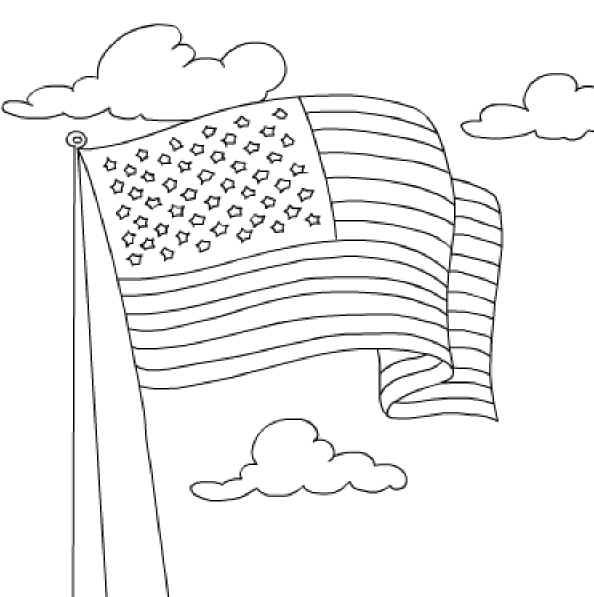 American Flag Coloring Pages Flag Coloring Pages American Flag
