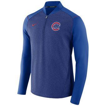 dc64e147e Men's Chicago Cubs Nike Royal Elite Performance Quarter-Zip Pullover Jacket