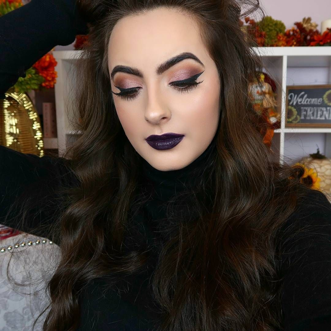 """NEW VIDEO IS UP!!! Get Ready With Me with this Grungy Dark Lipped look!! (Link in Bio) PS Huge Sephora Haul went up yesterday if you havent seen it!!! Lips @ofracosmetics Vintage Vinyard Collection shade """"Bordeaux"""" #ofravv #ofra #ofracosmetics"""