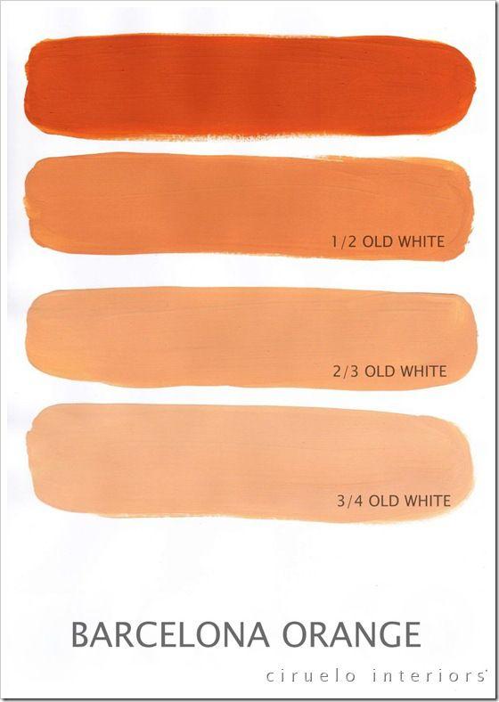 Annie Sloan Chalk Paint Colours Barcelona Orange Og Old White