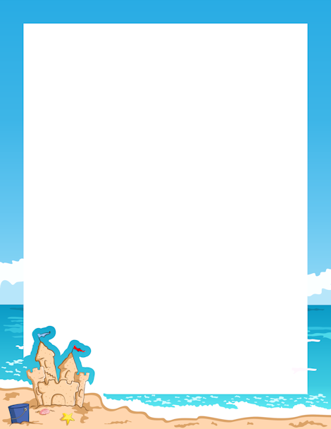 printable seaside border free gif jpg pdf and png