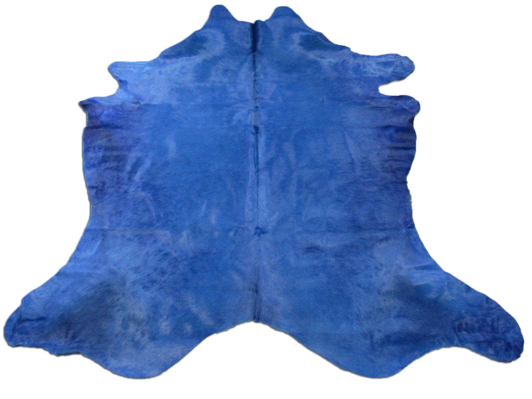 Dyed Royal Blue Cowhide Rug Size 8 X 7 5 Huge Royal Blue