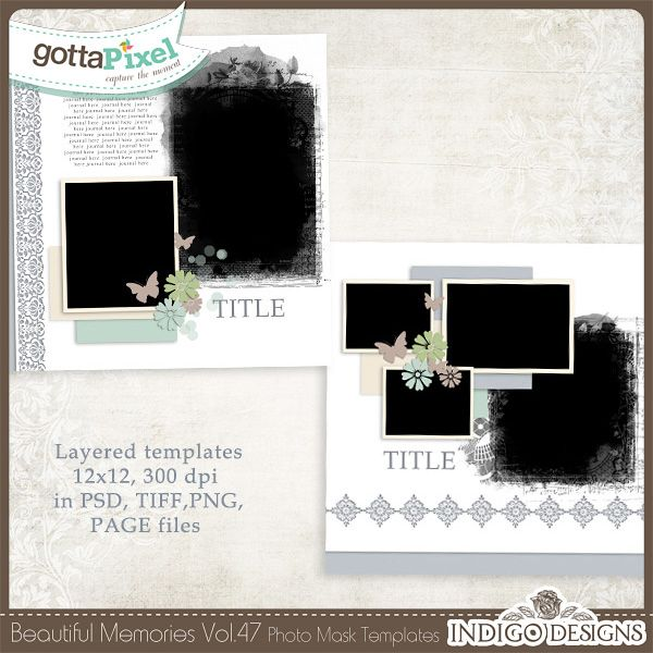 Beautiful Memories Templates Vol.47 :: Gotta Grab It :: Gotta Pixel Digital Scrapbook Store