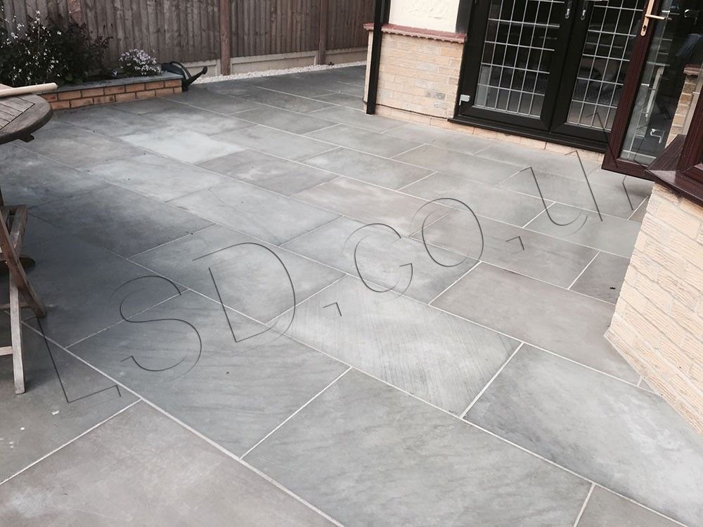 Indian Sandstone Paving   Polished Kandla Grey   900 X 600mm