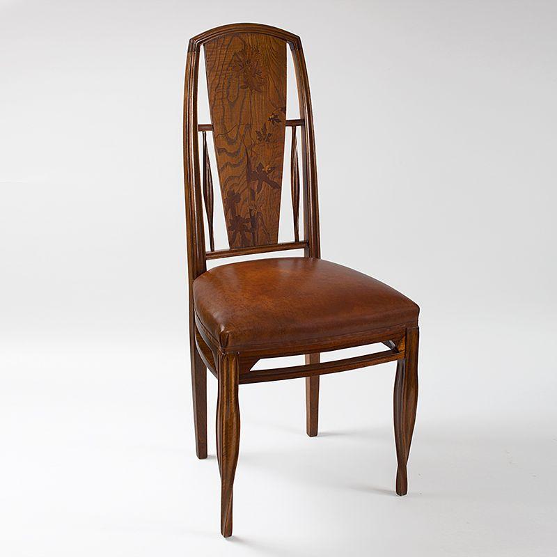French Art Nouveau Side Chair by Louis Majorelle, 1900 Art nouveau