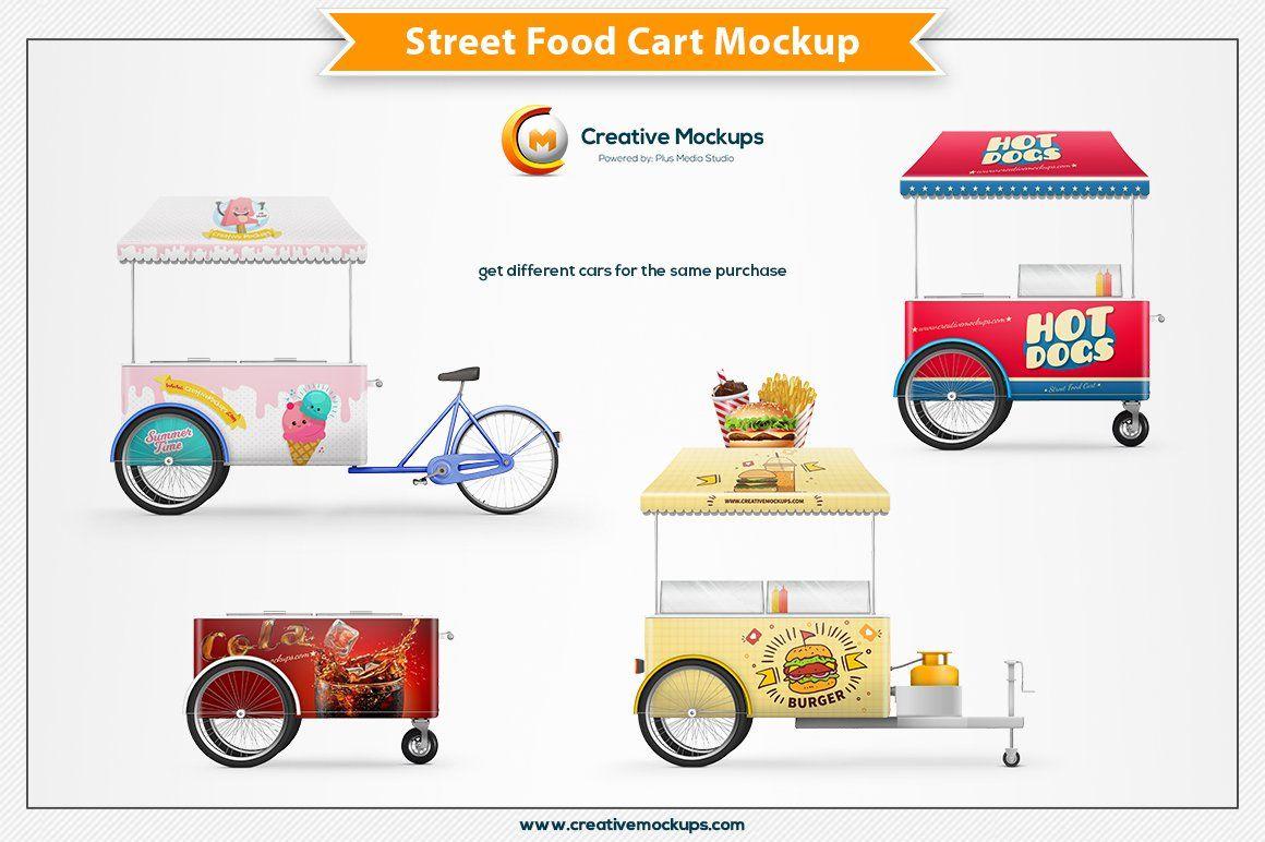 Street Food Cart Mockup Street Food Food Cart Presentation Design