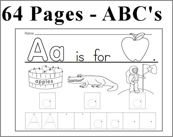 kearn to write alphabet | abc unit 64 pages learn to write each ...