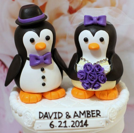 penguin wedding cake topper | Wedding | Pinterest | Wedding cake ...