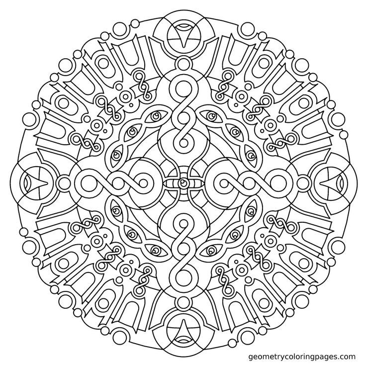 Geometry Coloring Pages Imgur Adult