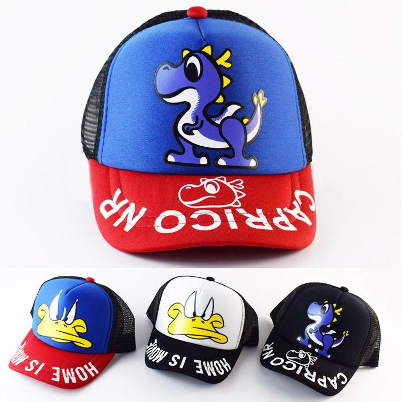 906c8ed69e3 Click to Buy    2017 Cartoon dinosaur duck kids cap Summer Children s  Baseball