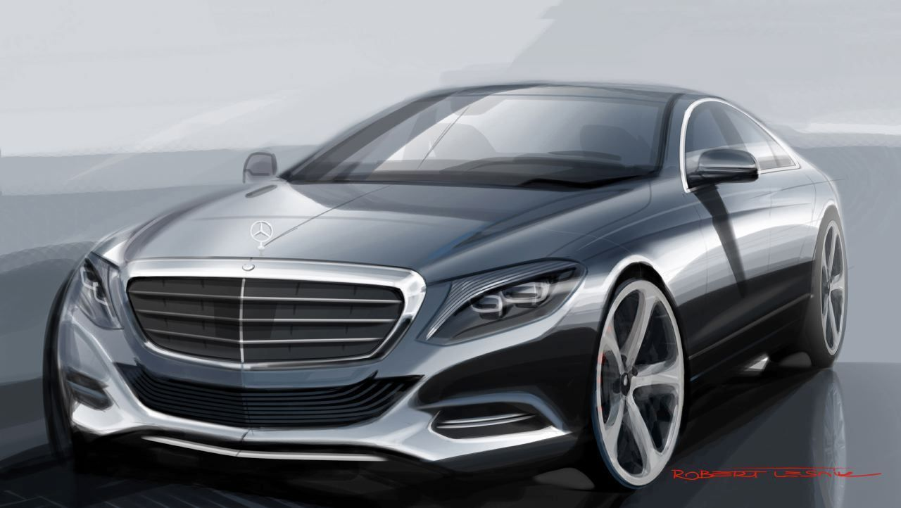 mercedes benz s class w222 sketch by robert lesnik form trends